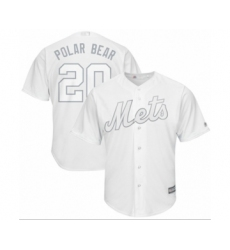 Men's New York Mets #20 Pete Alonso  Polar Bear Authentic White 2019 Players Weekend Baseball Jersey