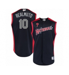 Youth Philadelphia Phillies #10 J. T. Realmuto Authentic Navy Blue National League 2019 Baseball All-Star Jersey