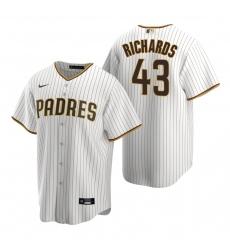 Men's Nike San Diego Padres #43 Garrett Richards White Brown Home Stitched Baseball Jersey