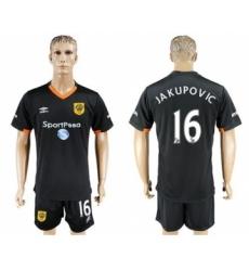 Hull City #16 Jakupovic Away Soccer Club Jersey