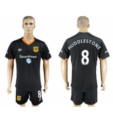 Hull City #8 Huddlestone Away Soccer Club Jersey