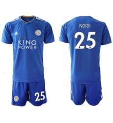 Leicester City #25 Ndidi Home Soccer Club Jersey
