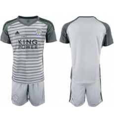 Leicester City Blank Grey Goalkeeper Soccer Club Jersey