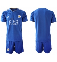 Leicester City Blank Home Soccer Club Jersey
