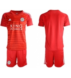 Leicester City Blank Red Goalkeeper Soccer Club Jersey