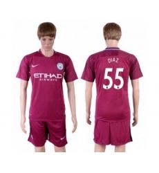 Manchester City #55 Diaz Away Soccer Club Jersey