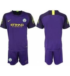 Manchester City Blank Purple Goalkeeper Soccer Club Jersey