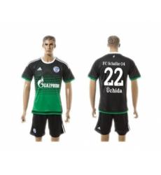 Schalke 04 #22 Uchida Away Soccer Club Jersey