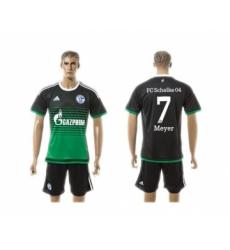 Schalke 04 #7 Meyer Away Soccer Club Jersey