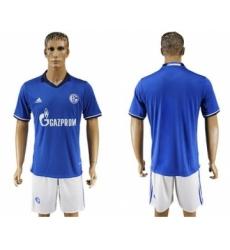 Schalke 04 Blank Blue Home Soccer Club Jersey