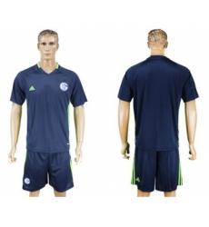 Schalke 04 Blank Blue Training Soccer Club Jersey