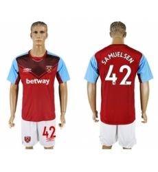 West Ham United #42 Samuelsen Home Soccer Club Jersey