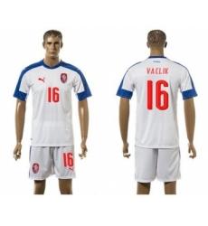Czech #16 Vaclik Away Soccer Country Jersey