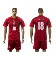 Czech #18 Sural Red Home Soccer Country Jersey
