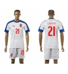 Czech #21 Lafata Away Soccer Country Jersey