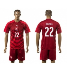 Czech #22 Darida Red Home Soccer Country Jersey
