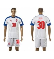 Czech #30 Tecl Away Soccer Country Jersey