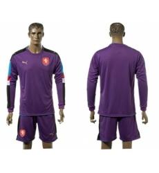 Czech Blank Purple Goalkeeper Long Sleeves Soccer Country Jersey
