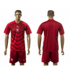 Czech Blank Red Home Soccer Country Jersey