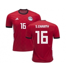 Egypt #16 S.Ekramy Red Home Soccer Country Jersey