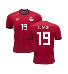 Egypt #19 EL Said Red Home Soccer Country Jersey