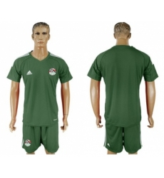 Egypt Blank Army Green Goalkeeper Soccer Country Jersey