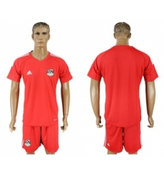 Egypt Blank Red Goalkeeper Soccer Country Jersey