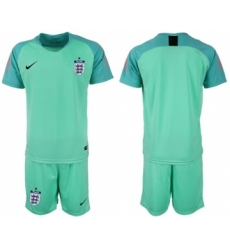 England Blank Green Goalkeeper Soccer Country Jersey