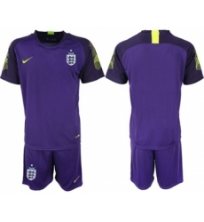 England Blank Purple Goalkeeper Soccer Country Jersey