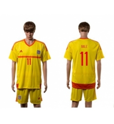 Wales #11 Bale Away Soccer Country Jersey