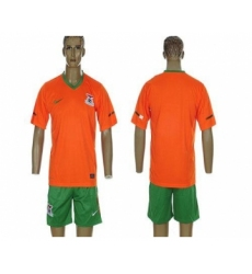 Zambia Blank 2012 2013 Orange Home Soccer Country Jersey