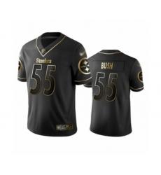 Men's Pittsburgh Steelers #55 Devin Bush Limited Black Golden Edition Football Jersey