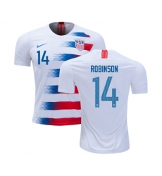 USA #14 Robinson Home Kid Soccer Country Jersey