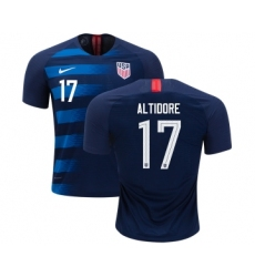 USA #17 Altidore Away Kid Soccer Country Jersey