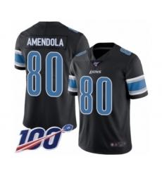 Men's Detroit Lions #80 Danny Amendola Limited Black Rush Vapor Untouchable 100th Season Football Jersey