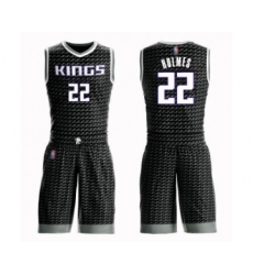 Men's Sacramento Kings #22 Richaun Holmes Authentic Black Basketball Suit Jersey Statement Edition