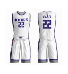 Men's Sacramento Kings #22 Richaun Holmes Authentic White Basketball Suit Jersey - Association Edition