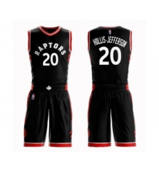 Men's Toronto Raptors #20 Rondae Hollis-Jefferson Swingman Black Basketball Suit Jersey Statement Edition