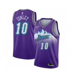 Men's Utah Jazz #10 Mike Conley Authentic Purple Hardwood Classics Basketball Jersey