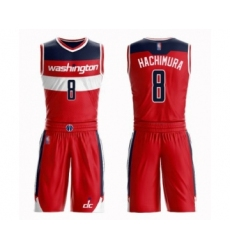 Women's Washington Wizards #8 Rui Hachimura Swingman Red Basketball Suit Jersey - Icon Edition