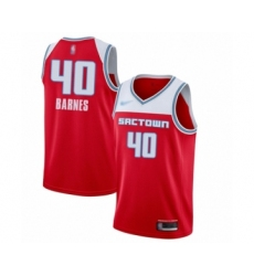 Men's Sacramento Kings #40 Harrison Barnes Swingman Red Basketball Jersey - 2019-20 City Edition