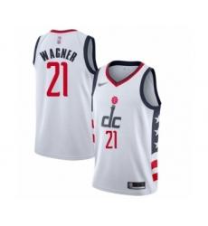 Men's Washington Wizards #21 Moritz Wagner Swingman White Basketball Jersey - 2019-20 City Edition