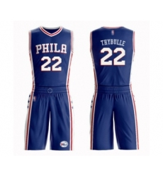 Men's Philadelphia 76ers #22 Mattise Thybulle Authentic Blue Basketball Suit Jersey - Icon Edition