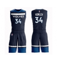 Men's Minnesota Timberwolves #34 Noah Vonleh Swingman Navy Blue Basketball Suit Jersey - Icon Edition