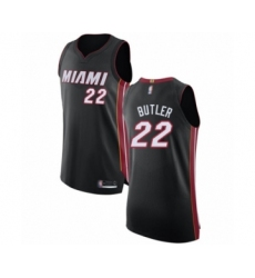 Men's Miami Heat #22 Jimmy Butler Authentic Black Basketball Jersey - Icon Edition