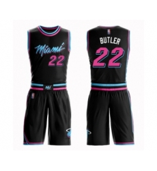Men's Miami Heat #22 Jimmy Butler Swingman Black Basketball Suit Jersey - City Edition