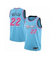 Women's Miami Heat #22 Jimmy Butler Swingman Blue Basketball Jersey - 2019 20 City Edition