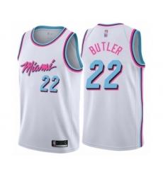 Women's Miami Heat #22 Jimmy Butler Swingman White Basketball Jersey - City Edition