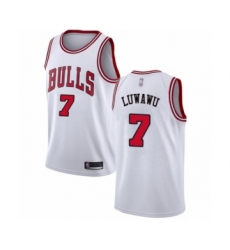 Men's Chicago Bulls #7 Timothe Luwawu Authentic White Basketball Jersey - Association Edition