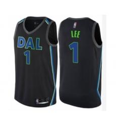 Men's Dallas Mavericks #1 Courtney Lee Authentic Black Basketball Jersey - City Edition